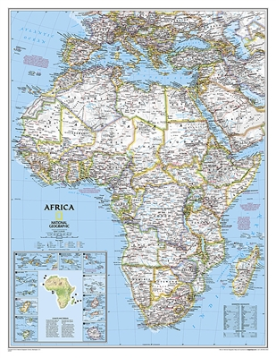 Africa Classic National Geographic Wall Map Enlarged