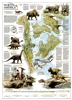 North American Dinosaurs National Geographic Poster. Imagine North America with great inland seas and a fabulous array of dinosaurs ranging across its expanse. North America in the Age of Dinosaurs shows the continent as it was 74 million years ago. The m