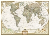 World Executive National Geographic Wall Map 3 Sheet Mural. This elegant, richly colored antique-style world map features the incredible cartographic detail that is the trademark quality of National Geographic. The map features a Tripel Projection, which