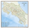 Costa Rica Political Wall Map - National Geographic. An intimate introduction to Costa Rica, this full-color map is a richly detailed rendering of one of Central America's greatest treasures. From its northern savannas and plains to lush forests and prist