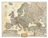 Europe Executive Wall Map - National Geographic. Make a statement with the newest addition to our European Wall Map library. The rich tones of the Political Executive map combine the popular antique look with up-to-date information so that you have a map