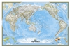 Pacific Centered Political Wall Map - National Geographic Wall Map. National Geographic's World map is the standard by which all other reference maps are measured. The World map is meticulously researched and adheres to National Geographic's convention of