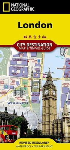 Easy London Map.London National Geographic Destination City Map In Addition To The
