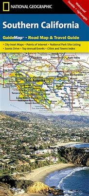 Southern California National Geographic State Guide Map