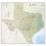 Texas Wall Map - National Geographic. Texas Wall Map - National Geographic. National Geographic's wall map of Texas brings the rich and diverse topography of the state to life in elegant detail. Mountain ranges, prominent peaks, major lakes, rivers, and r