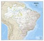 Brazil Classic National Geographic Wall Map