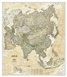 Asia Executive Wall Map - National Geographic. Astounding detail and boardroom quality make this richly colored map excellent for reference in your home or office. Detailed National Geographic cartography includes country boundaries, place names, bodies o