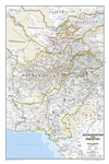 Afghanistan and Pakistan Classic National Geographic Wall Map
