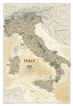 Italy Executive National Geographic Wall Map. This elegant, richly colored antique-style map features the incredible cartographic detail that is the trademark of National Geographic quality. In addition to detailed reference information - country boundari