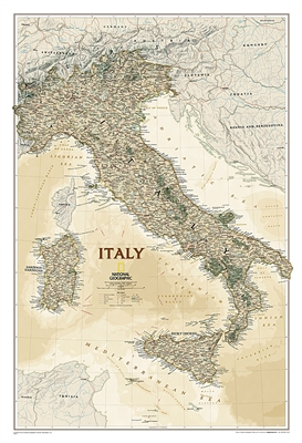 Italy Executive National Geographic Wall Map