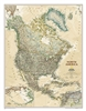 North America Executive National Geographic Wall Map