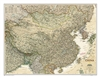 China Executive National Geographic Wall Map. This elegant, richly colored antique-style map of China features the incredible cartographic detail that is the trademark of National Geographic quality. The China Executive wall map accurately shows locations