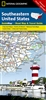 Southeastern United States National Geographic State Guide Map. National Geographic Guide Maps combine the most reliable road maps available with detailed travel guide information. One side features a detailed state highway map, enhanced with terrain deta