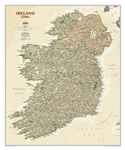 Ireland Executive Wall Map - National Geographic. Ireland Executive is ideal for those researching their Irish ancestry, a perfect tool for business reference, and a beautiful addition to any decor. It is one of the largest and most detailed wall maps spe