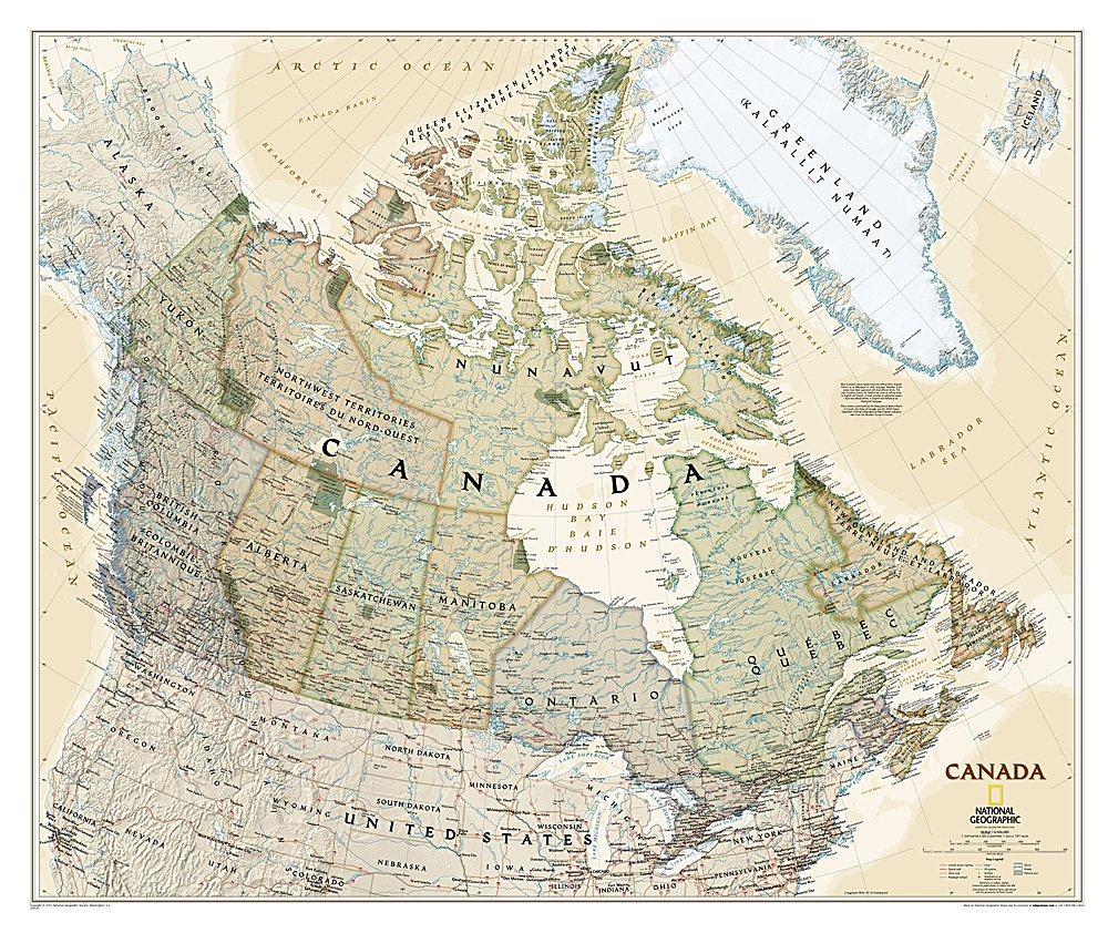Canada Map National Geographic Canada Executive Wall Map   National Geographic. This executive