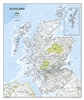 Scotland Political Wall Map - National Geographic. The classic-style Scotland wall map is one of the largest and most detailed maps available. Includes hundreds of named places including primary and secondary towns, counties, political boundaries, infrast