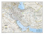 Iran Classic National Geographic Wall Map