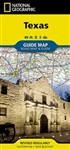 Texas National Geographic State Guide Map. The front side is an easy-to-read road map with insets of: - Austin - San Antonio - Corpus Christi - Abilene - Waco - Laredo - Beaumont - McAllen - Odessa / Midland - El Paso - Lubbock - Amarillo The back include
