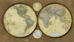 World Hemispheres National Geographic Wall Map