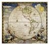 Map of Discovery - Western Hemisphere National Geographic