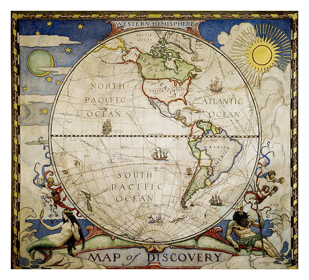 Of discovery western hemisphere national geographic map of discovery western hemisphere national geographic gumiabroncs Choice Image