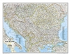 Balkans Political Wall Map - National Geographic. The map covers Albania, Austria, Bosnia and Herzegovina, Bulgaria, Croatia, Hungary, Kosovo, Macedonia, Moldova, Montenegro, Romania, Slovenia, as well as the outlying border countries of Greece, Italy, Sl