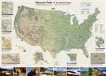 USA National Parks Wall Map - National Geographic. Separate inset maps provide detail and descriptions of seven of the parks: Yellowstone, Yosemite, Acadia, Grand Canyon, Great Smoky Mountains, Everglades, and Zion. Parks located in U.S. territories are i