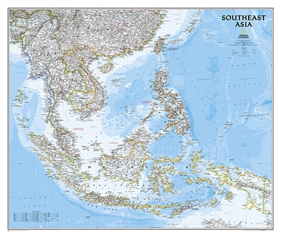 Southeast Asia Classic National Geographic Wall Map