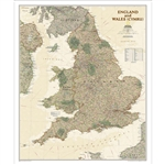 England & Wales Executive Wall Map - National Geographic. National Geographic's Classic style wall map of England and Wales (Cymru) provides exceptional detail of two of the three regions that make up the island of Great Britain. The map features a bright
