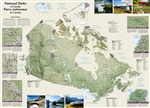 Canada National Parks Wall Map - National Geographic. National Geographic's wall map of Canada's National Parks highlights the magnificent parks, marine conservation areas and historic sites across the country. This French-English bilingual map, is beauti