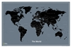 World Modern Wall Map - National Geographic. National Geographic's World Modern wall map features a clean, contemporary color palette. Countries, oceans and major cities are labeled in a clear, easy-to-read font. International borders can be found effortl