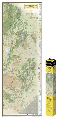 Continental Divide Trail Map. Ideal for fans and hikers of this magnificent National Scenic Trail. It makes a great planning tool or as reference to track progress on the 3,100 plus mile length. This beautiful map shows the entire length of the trail from