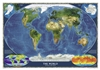 World Satellite National Geographic Wall Map