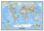 World Political Wall Map - National Geographic. Enjoy the accuracy and beauty of the latest world map from the cartographers at National Geographic. This map features the Winkel Tripel projection to reduce distortion of land masses as they near the poles.