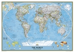 World Political Wall Map 3 Sheet Mural - National Geographic Wall Map 3 Sheet Mural. Enjoy the accuracy and beauty of the latest world map from the cartographers at National Geographic. This map features the Winkel Tripel projection to reduce distortion o