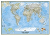 World Political Wall Map XL - National Geographic. Enjoy the accuracy and beauty of the latest world map from the cartographers at National Geographic. This map features the Winkel Tripel projection to reduce distortion of land masses as they near the pol