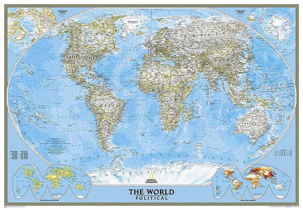 national geographic wallpaper maps  World Classic National Geographic Wall Map Enlarged