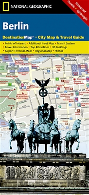 Berlin National Geographic Destination City Map. Destination Maps combine finely detailed maps with fascinating and practical travel information. Maps feature a large scale city map, richly layered with tourist and business travel locations and informatio