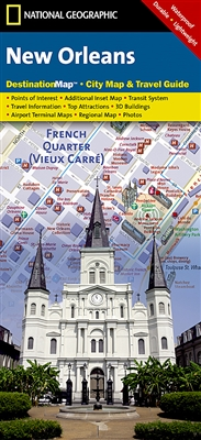 New Orleans National Geographic Destination City Map