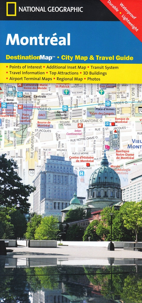 Montreal Subway Map Scale.Montreal National Geographic Destination City Map