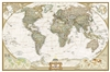World Executive Wall Map XL - National Geographic. This elegant, richly colored antique-style world map features the incredible cartographic detail that is the trademark quality of National Geographic. The map features a Tripel Projection, which reduces d
