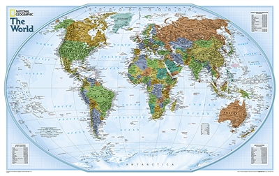 World Explorer National Geographic World Wall Map