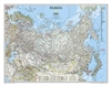 Russia Political Wall Map - National Geographic. Our classic wall map of Russia and the independent states of the former Soviet Union shows thousands of place names, roadways, political boundaries, bodies of water, airports, and many other geographic deta