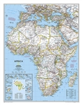 Africa Classic National Geographic Wall Map