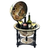 Novara Bar Globe - 13 Inch Globe. The Novara by Waypoint Geographic is an Italian style reproduction, representing 16th Century Old World charm. This tabletop bar globe measures 22.4 inches tall. Globe size is 13 inches in diameter with an overall depth o
