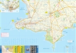 Uruguay & Montevideo Travel & Road Map. This is a very detailed topographical map of Uruguay. It features distinctive road markings and includes a nice inset map of Montevideo. Uruguay is a South American country known for its verdant interior and beach-l