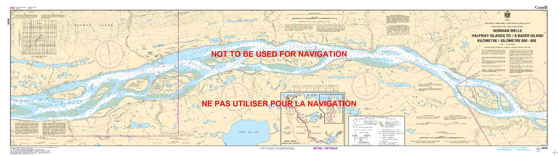 Islands Of Canada Map.6418 Norman Wells Halfway Islands To Rader Island