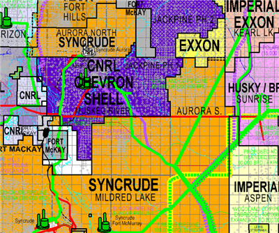Athabasca East Oil Sands map