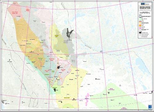Western Canadian Sedimentary Basin Play Location Map