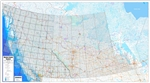 Western Canada Regional Base Map with Township and NTS Grids. We have also added the township grids in Alberta, southern Saskatchewan, SW Manitoba and in BC's Peace River Block. This detailed base map includes primary and secondary roads, railroads, lakes